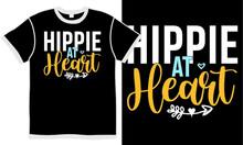 Hippie At Heart, Heart Made, Flower Hippie, Design Hippie, Love Heart T Shirt Design Concept