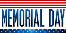 American Flag Memorial Day July Honor Veteran Grave Cemetary Soldiers Funeral Usa National Holiday Border Banner Vector Illustration Isolated