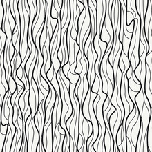Structure With Veils Lines. Asymmetry Texture Vector Background. Twisted Lines Grid Seamless Pattern.