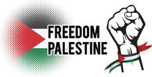 Freedom For Palestine Wallpaper, Banner Vector Illustration
