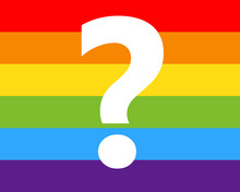 Rainbow Question Mark Image. Clipart Image
