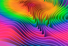 Digitally Generated Image Multicolor Rainbow Ripple Pattern