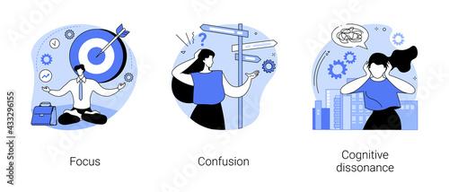 Fototapeta Mental state abstract concept vector illustrations. obraz