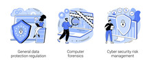 Information Control And Security Abstract Concept Vector Illustrations.