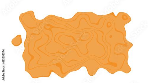 Fotografia, Obraz Liquid design element, deformed rectangular block for text.