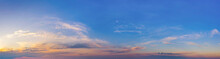 Evening Or Morning Landscape, Sunrise Or Sunset. Panorama Of The Sky.