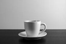 Czarno Białe Zdjęcie Kubka Z Kawą