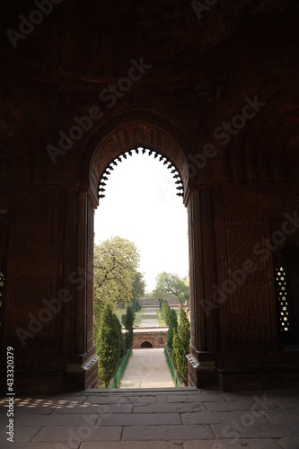 Obraz na plátně The Qutb Minar, also spelled as Qutub Minar and Qutab Minar, is a minaret and v