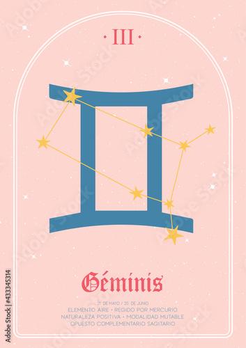 Obraz na płótnie signos geminis