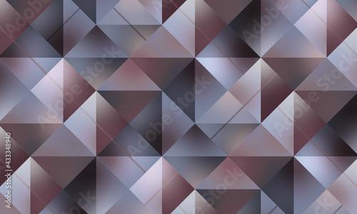 Abstrakcyjne tło w jasnym kolorze. Mozaika z kwadratów i trójkątów. Szablon z miejscem na Twój tekst, produkt, tapeta, ilustracja dla social media story, internetowe projekty, aplikacje mobilne. - fototapety na wymiar