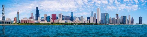 City of Chicago Skyline and the Lake Michigan,  Illinois, USA Fotobehang