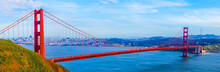 Golden Gate  Bridge, San Francisco, California, USA, Panorama View,