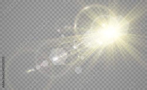 Stampa su Tela Special lens flash, light effect