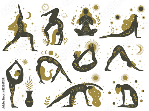 Photo Magical yoga women