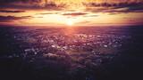 Fototapeta Fototapety do łazienki - Zachód słońca z lotu ptaka na Górnym Śląsku, Jastrzębie Zdrój