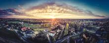Zachód Słońca Z Lotu Ptaka Na Górnym Śląsku, Jastrzębie Zdrój