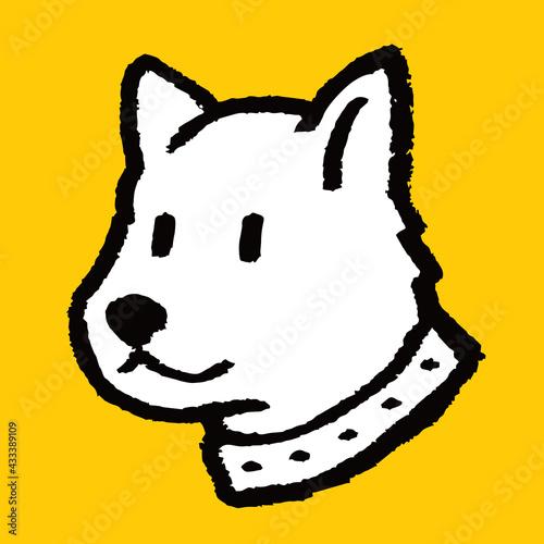 Naklejka premium Sketch doodle style dog illustration vector