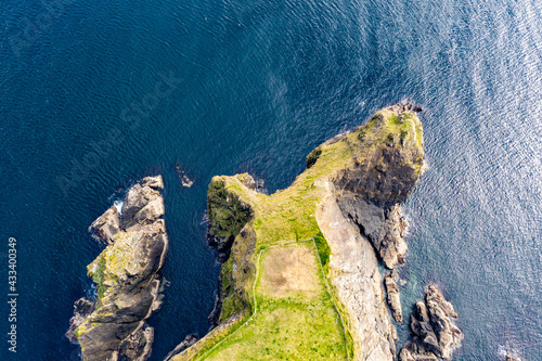 Aerial view of cliffs at Malin Beg in County Donegal - Ireland Fotobehang