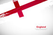 Brush painted grunge flag of England country. Hand drawn flag style of England. Creative brush stroke concept background