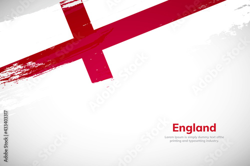Brush painted grunge flag of England country Poster Mural XXL