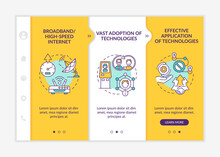 Successful Digital Inclusion Onboarding Vector Template. Responsive Mobile Website With Icons. Web Page Walkthrough 3 Step Screens. Digitalization Color Concept With Linear Illustrations