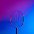 Leinwandbild Motiv Badminton racket in vibrant bold gradient holographic neon colors