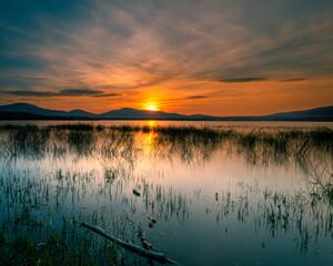 Magiczny zachód słońca