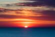 Letzte Phase Sonnenuntergang am Meer