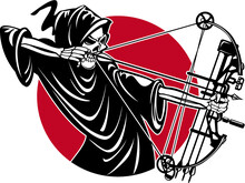 Grim Reaper With Compound Bow