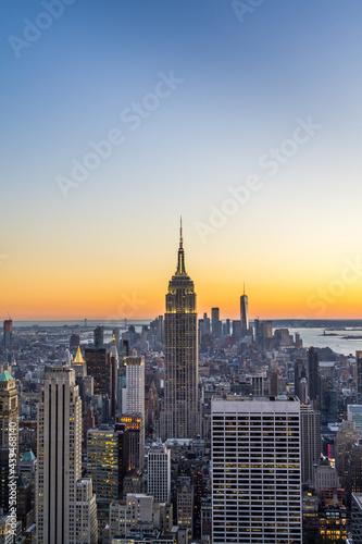 Empire State Building at Sunset Fototapeta