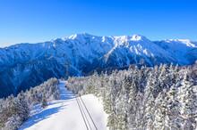 Shin-Hotaka The Top Of Hotaka Mountain In Winter Season, Okuhida, Gifu, Japan