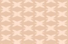 Wall Art. Modern Abstract Pattern. Pattern Of Butterflies. Pink Background. Vector Illustration