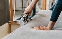 Professional Cleaning Service Deep Cleaning Sofa At Home.
