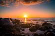 Sonnenuntergang Ostseestrand