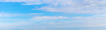 Blue Sky With Dense White Clouds, Panorama