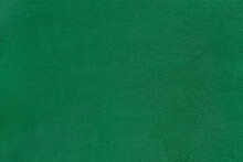 Green Textured Smooth Leather Surface Background, Small Grain