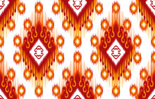 Ikat Tribal Indian Seamless Pattern Design. Ethnic Aztec African American Textile Decoration Wallpaper. Geometric African American Vector Illustrations Background.