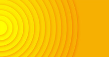Abstract Background Made With Geometric Circles In Yellow