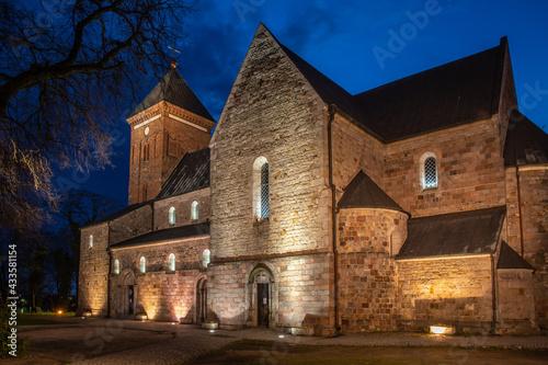 Fotografia, Obraz Romanesque Catholic collegiate church in Kruszwica - Kujawsko-Pomorskie Poland