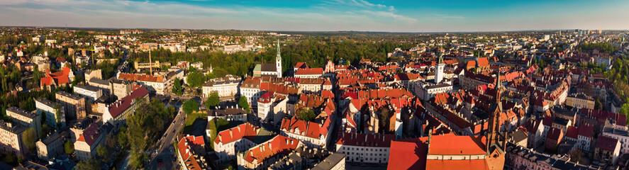 Kalisz panorama starego miasta Polska