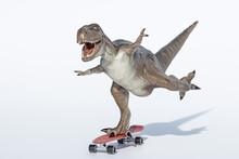 Tyrannosaurus Rex Isolated On White