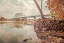 This Is A Landscape Photo Infrared. The Picture Was Taken In Ho Chi Minh City, 13/4/2021. Content About Architecture Of Binh Loi Bridge. This Is A Famous Bridge In Ho Chi Minh City.