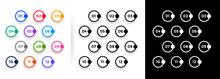 Bullet Points Circles Shape Numbers Set