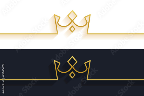 Fototapeta minimalist line crown concept background