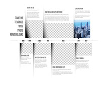 Simple Infographic Timeline Template With Photo Placeholders