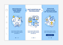 Successful Digital Inclusion Preconditions Onboarding Vector Template. Responsive Mobile Website With Icons. Web Page Walkthrough 3 Step Screens. Digitalization Color Concept With Linear Illustrations