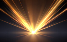 Gold Light Rays Effect Background