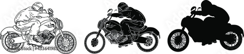 Fotografiet Vintage vector motorcycle