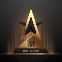 Black And Gold Star Award Template