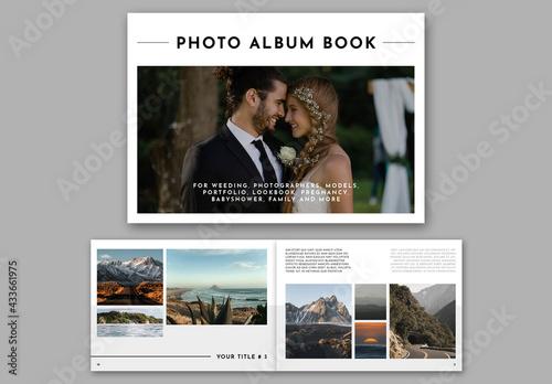 Horizontal Photo Album Book Layout - fototapety na wymiar